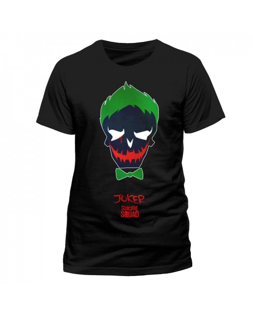 DC COMICS SUICIDE SQUAD - THE JOKER ICON BLACK T-SHIRT