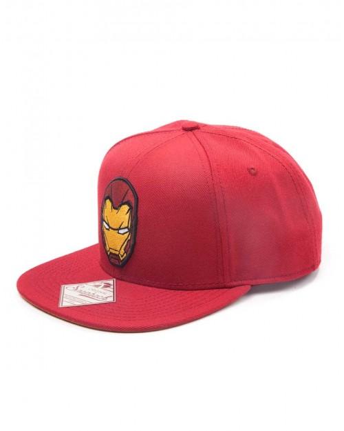 OFFICIAL MARVEL COMICS IRON MAN MASK RED SNAPBACK CAP