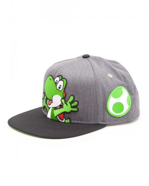 OFFICIAL NINTENDO'S SUPER MARIO BRO'S YOSHI GREY SNAPBACK CAP