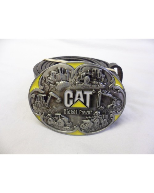 CAT DIGGER COLLAGE BUCKLE with BELT