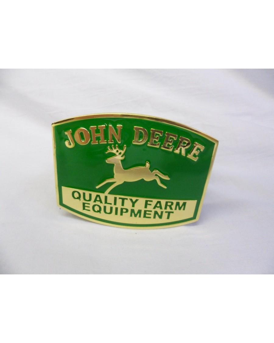 JOHN DEERE 'QUALITY FARM EQUIPMENT' BUCKLE with BELT