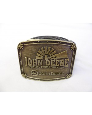 VINTAGE STYLED JOHN DEERE 'QUALITY FARM EQUIPMENT' BUCKLE with BELT