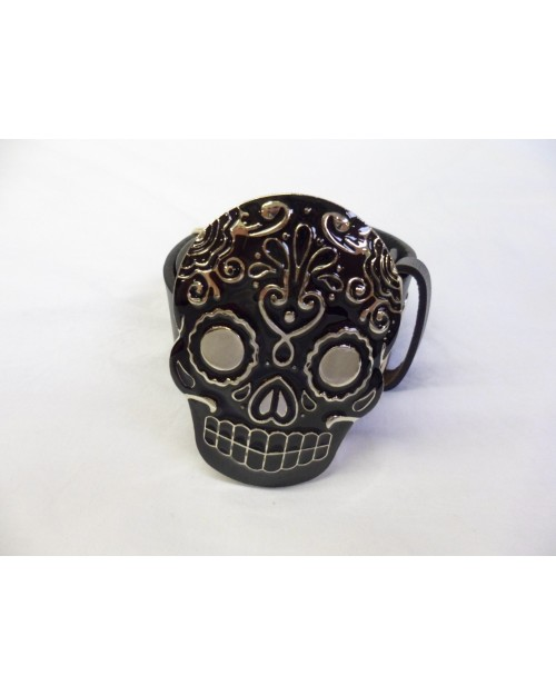 MEXICAN KATRINA DIA DE MUERTOS BUCKLE with BELT
