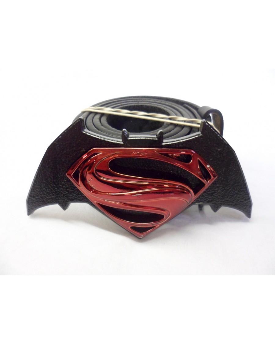 DC COMICS BATMAN V SUPERMAN SYMBOL BUCKLE with BELT