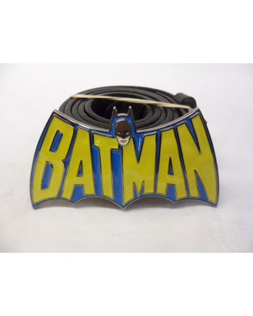 DC COMICS RETRO BATMAN SYMBOL BUCKLE with BELT