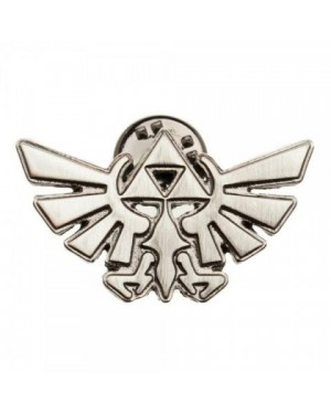 OFFICIAL THE LEGEND OF ZELDA TRI-FORCE SYMBOL METAL GREY PIN BADGE