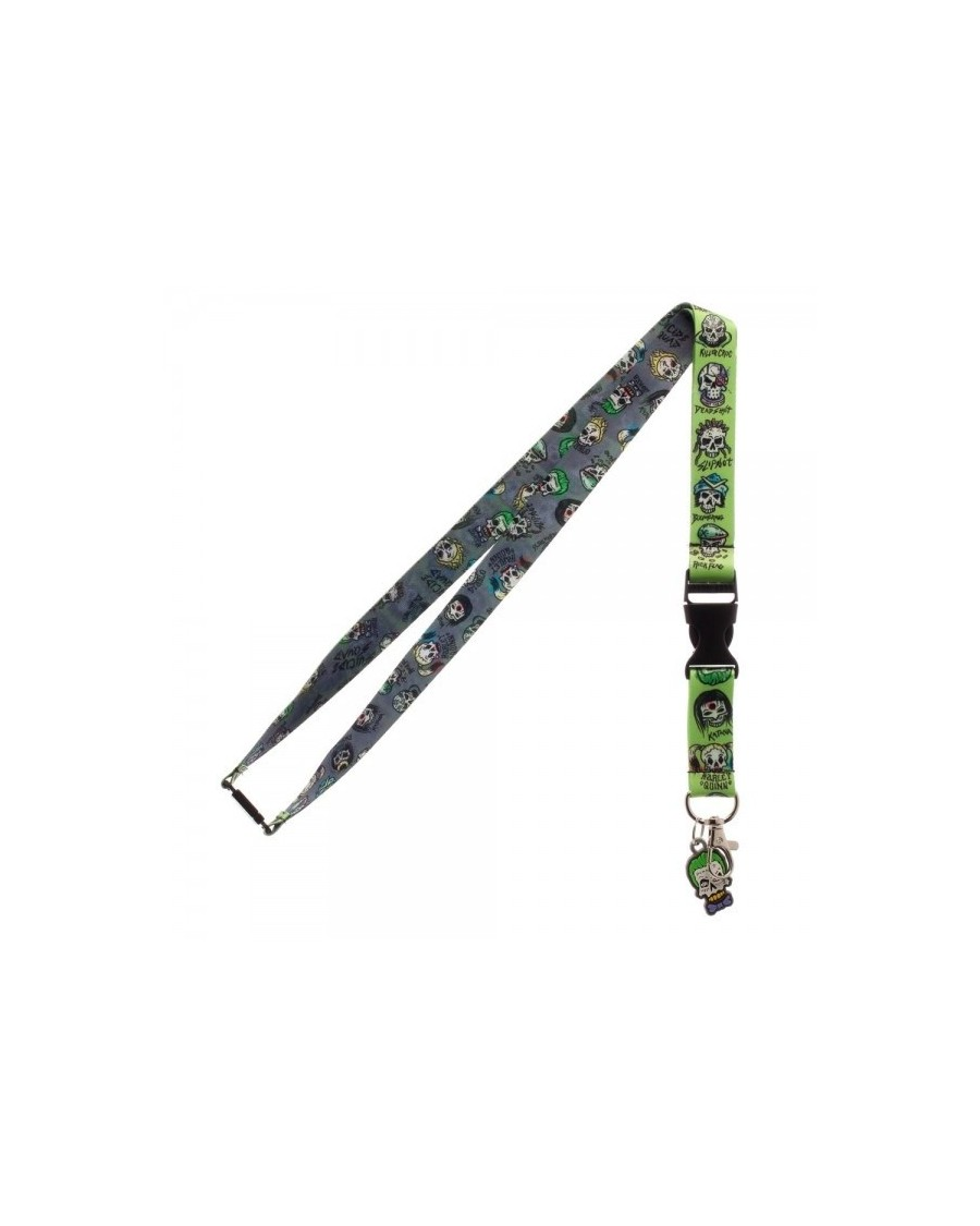 OFFICIAL DC COMICS SUICIDE SQUAD SKULL ICONS LANYARD