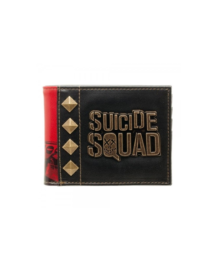 OFFICIAL DC COMICS SUICIDE SQUAD METAL SYMBOL WITH HARLEY QUINN PRINT WALLET
