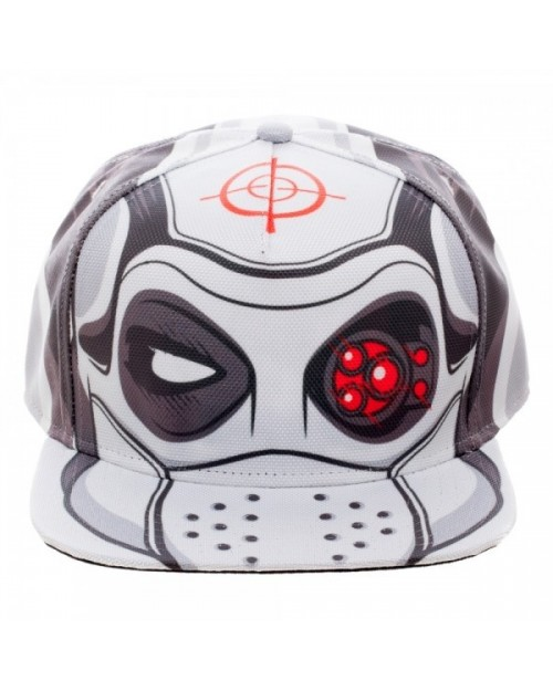 OFFICIAL SUICIDE SQUAD DEADSHOT SUIT UP COSTUME ALL OVER PRINT SNAPBACK CAP