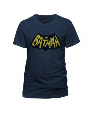 OFFICIAL DC COMICS BATMAN 1966 SYMBOL HEATHER NAVY T-SHIRT