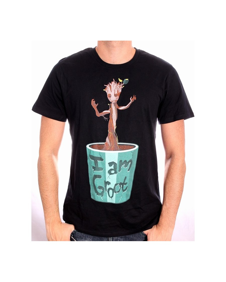OFFICIAL MARVEL COMICS GUARDIANS OF THE GALAXY - I AM GROOT (BABY GROOT) BLACK T-SHIRT