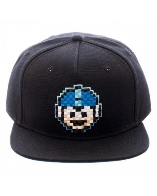 OFFICIAL MEGA MAN 8-BIT FACE BLACK SNAPBACK CAP