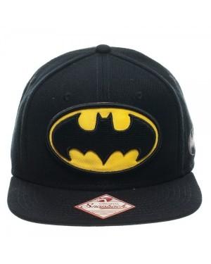 OFFICIAL DC COMICS BATMAN CLASSIC YELLOW SYMBOL BLACK SNAPBACK CAP