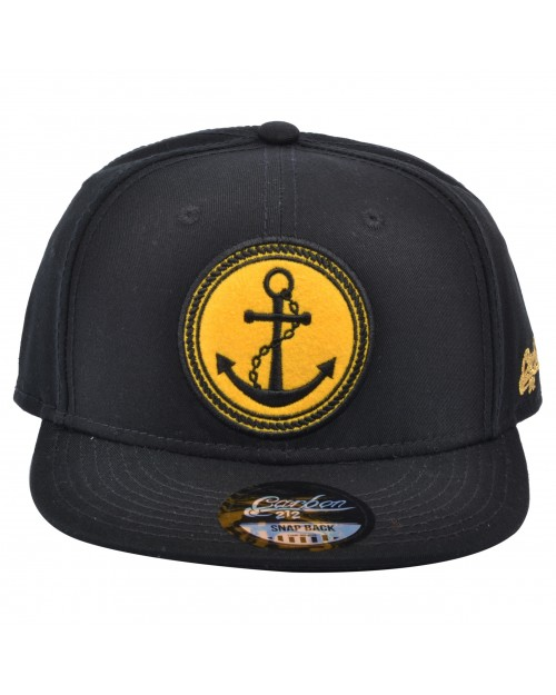 CARBON 212 SAILOR ANCHOR BLACK SNAPBACK CAP