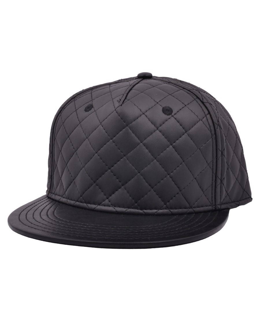 CARBON 212 QUILTED BLACK SNAPBACK CAP