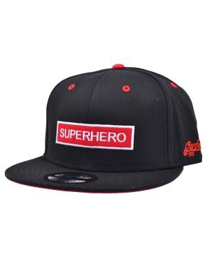 CARBON 212 SUPERHERO RED & WHITE BOX BLACK SNAPBACK CAP
