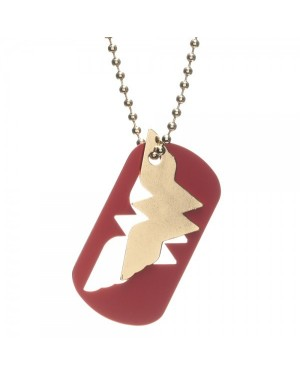 OFFICIAL DC COMICS WONDER WOMAN SYMBOL NECKLACE ON CHUNKY GOLD CHAIN