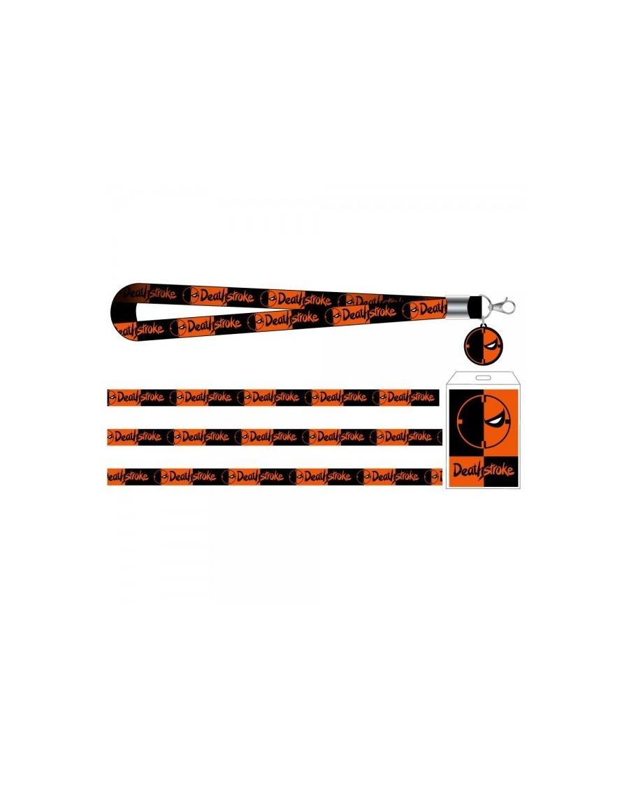 OFFICIAL DC COMICS DEATHSTROKE SYMBOL ALL OVER PRINT LANYARD