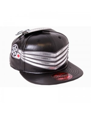 OFFICIAL G.I. JOE SNAKE EYES COSTUME PU BLACK SNAPBACK CAP