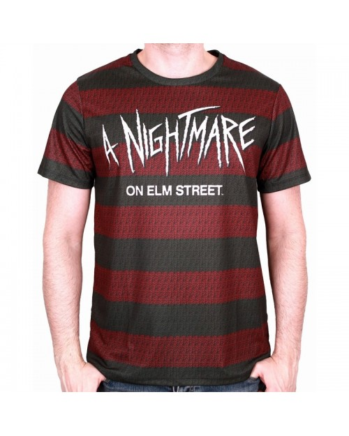 OFFICIAL A NIGHTMARE ON ELM STREET FREDDY'S SWEATER STYLE T-SHIRT