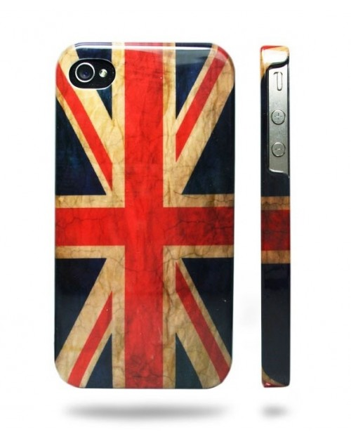 VINTAGE UNION JACK IPHONE 4 & 4S HARD CASE