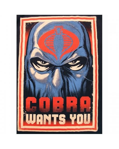 OFFICIAL G.I. JOE COBRA WANTS YOU NAVY BLUE T-SHIRT