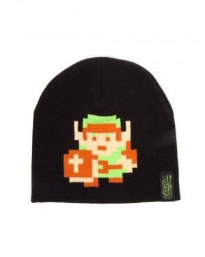 OFFICIAL NINTENDO'S THE LEGEND OF ZELDA 8-BIT LINK BLACK BEANIE HAT