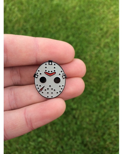 FRIDAY THE 13th JASON MASK ENAMEL PIN BADGE