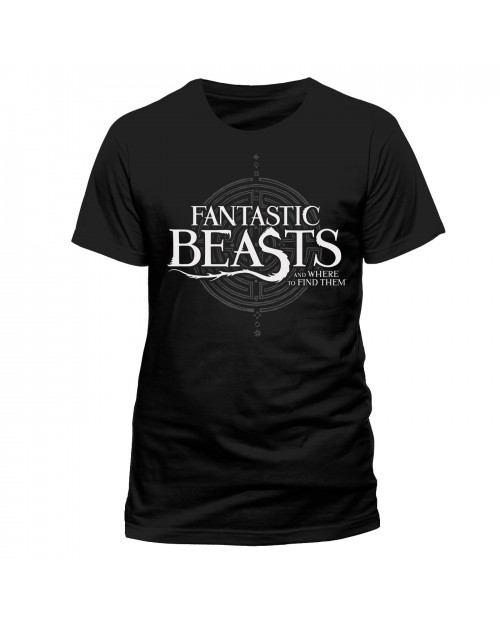 OFFICIAL FANTASTIC BEASTS AND WHERE TO FIND THEM SYMBOL BLACK T-SHIRT