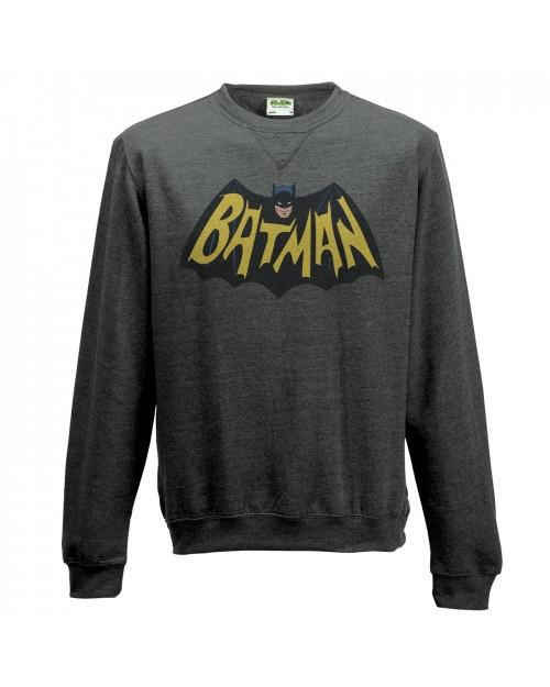 OFFICIAL DC COMICS BATMAN 1966 BAT SYMBOL CREWNECK SWEATER JUMPER