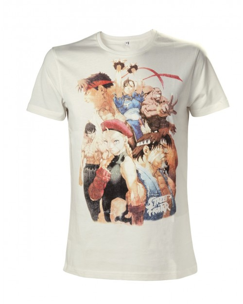 OFFICIAL STREET FIGHTER V - CHARACTERS COLLAGE CREAM T-SHIRT