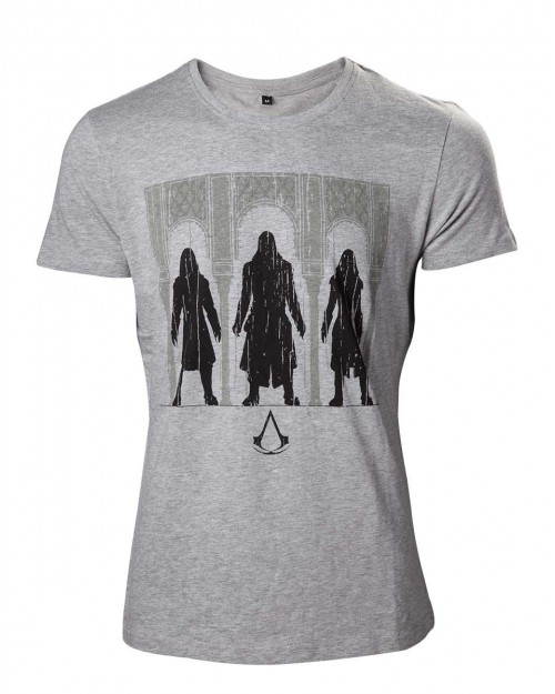 OFFICIAL ASSASSIN'S CREED THE MOVIE - GROUP OF ASSASSIN'S GREY T-SHIRT