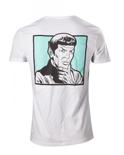 OFFICIAL STAR TREK SPOCK - YOUR LOGIC IS QUESTIONABLE WHITE T-SHIRT