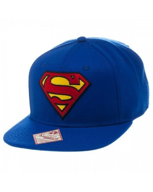 OFFICIAL DC COMICS SUPERMAN CLASSIC SYMBOL BLUE SNAPBACK CAP