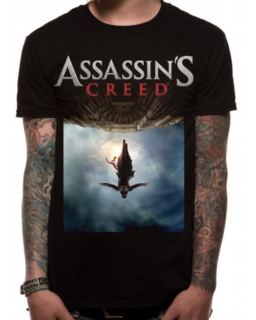 OFFICIAL ASSASSIN'S CREED MOVIE POSTER BLACK T-SHIRT