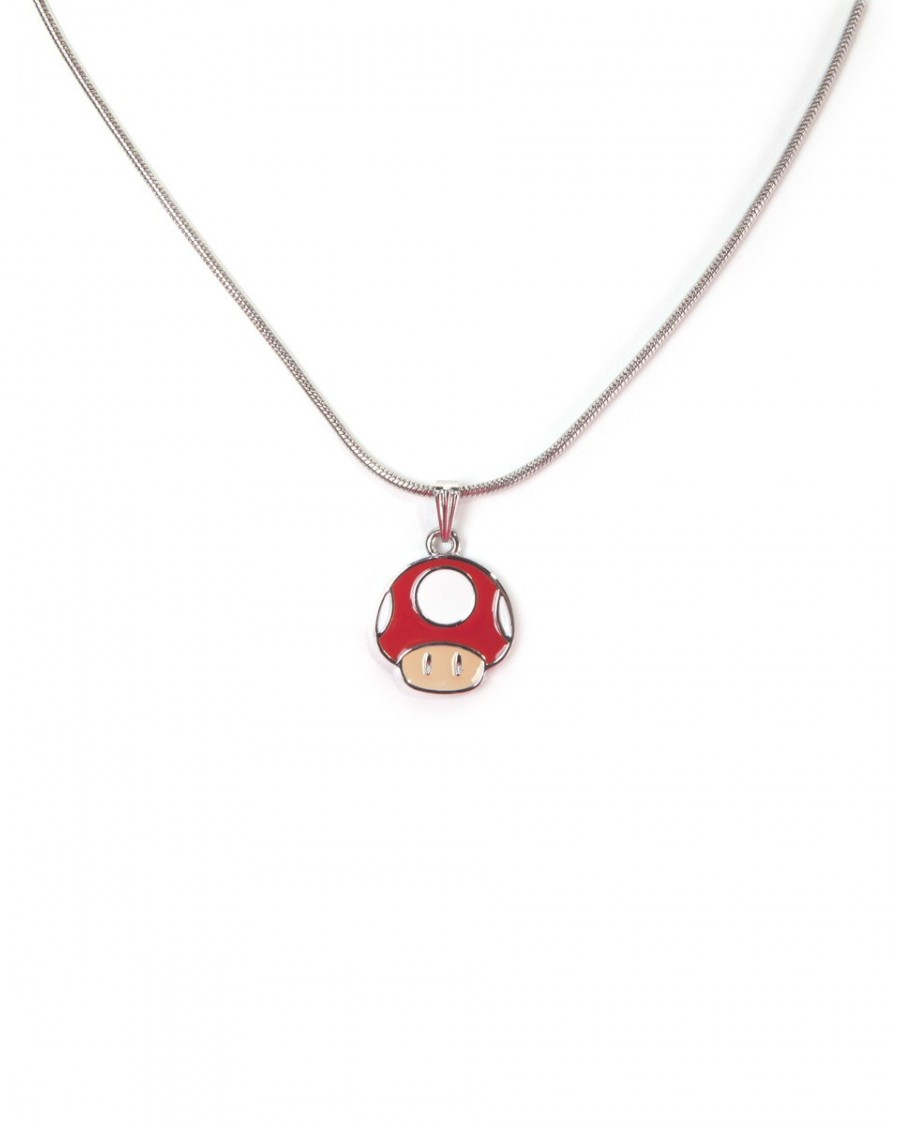 OFFICIAL NINTENDO'S SUPER MARIO BRO'S POWER UP RED MUSHROOM PENDANT ON NECKLACE