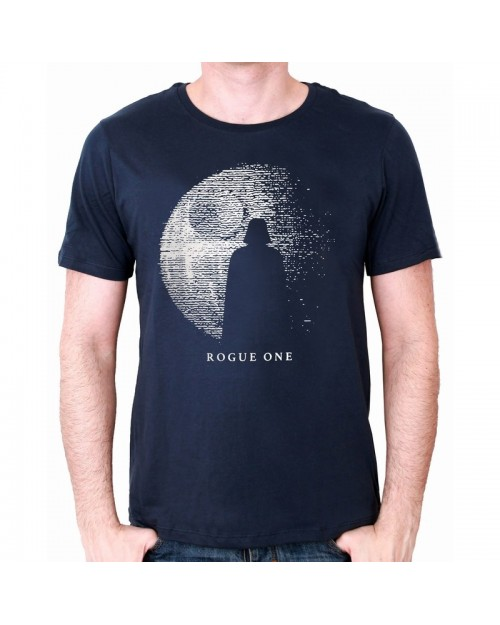 OFFICIAL ROGUE ONE: A STAR WARS STORY DEATH STAR & DARTH VADER NAVY T-SHIRT