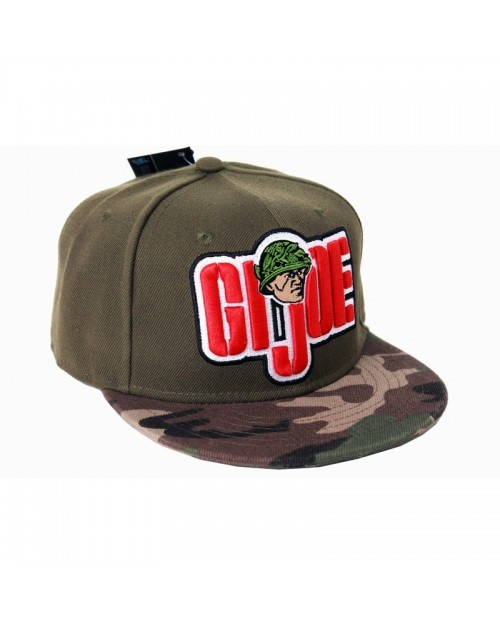 OFFICIAL G.I. JOE SNAKE SYMBOL/ LOGO KHAKI/ CAMOUFLAGE SNAPBACK CAP