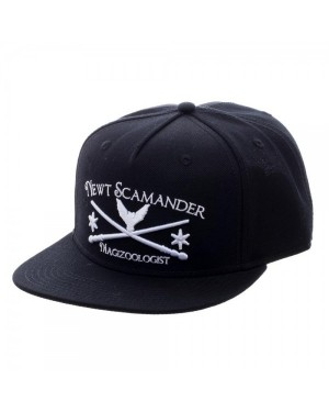 OFFICIAL FANTASTIC BEASTS AND WHERE TO FIND THEM - NEWT SCAMANDER MAGIZOOLOGIST BLACK SNAPBACK CAP