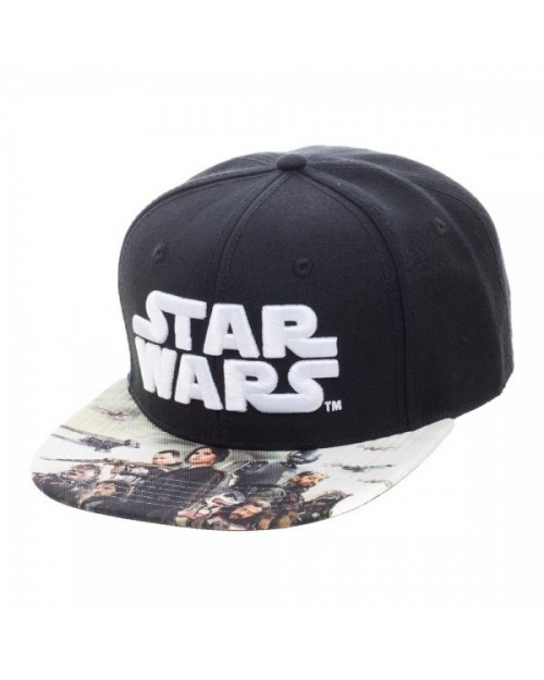 OFFICIAL ROGUE ONE A STAR WARS STORY SYMBOL SNAPBACK CAP WITH PRINTED VISOR