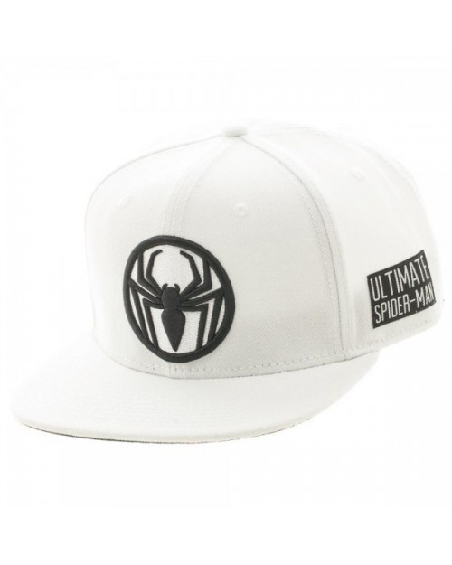 OFFICIAL MARVEL COMICS ULTIMATE SPIDER-MAN SYMBOL BLACK & WHITE SNAPBACK CAP