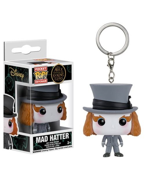 OFFICIAL DISNEY'S ALICE THROUGH THE LOOKING GLASS - MAD HATTER POCKET POP! VINYL KEYRING