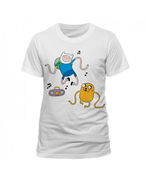 OFFICIAL ADVENTURE TIME - FINN AND JAKE RADIO WHITE T-SHIRT