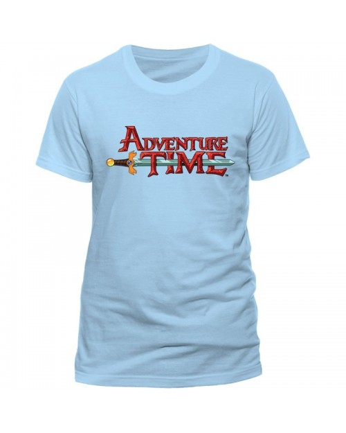 OFFICIAL ADVENTURE TIME LOGO BABY BLUE T-SHIRT