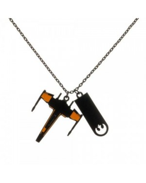 OFFICIAL STAR WARS X-WING & REBEL ALLIANCE SYMBOL PENDANT ON NECKLACE