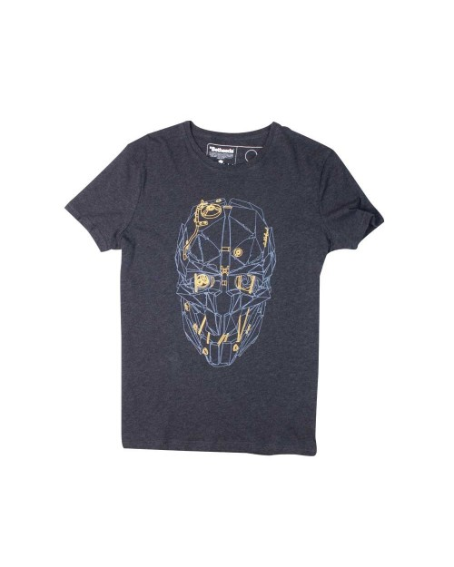 OFFICIAL DISHONORED 2 - CORVO'S MASK GOLD HEATHER GREY T-SHIRT