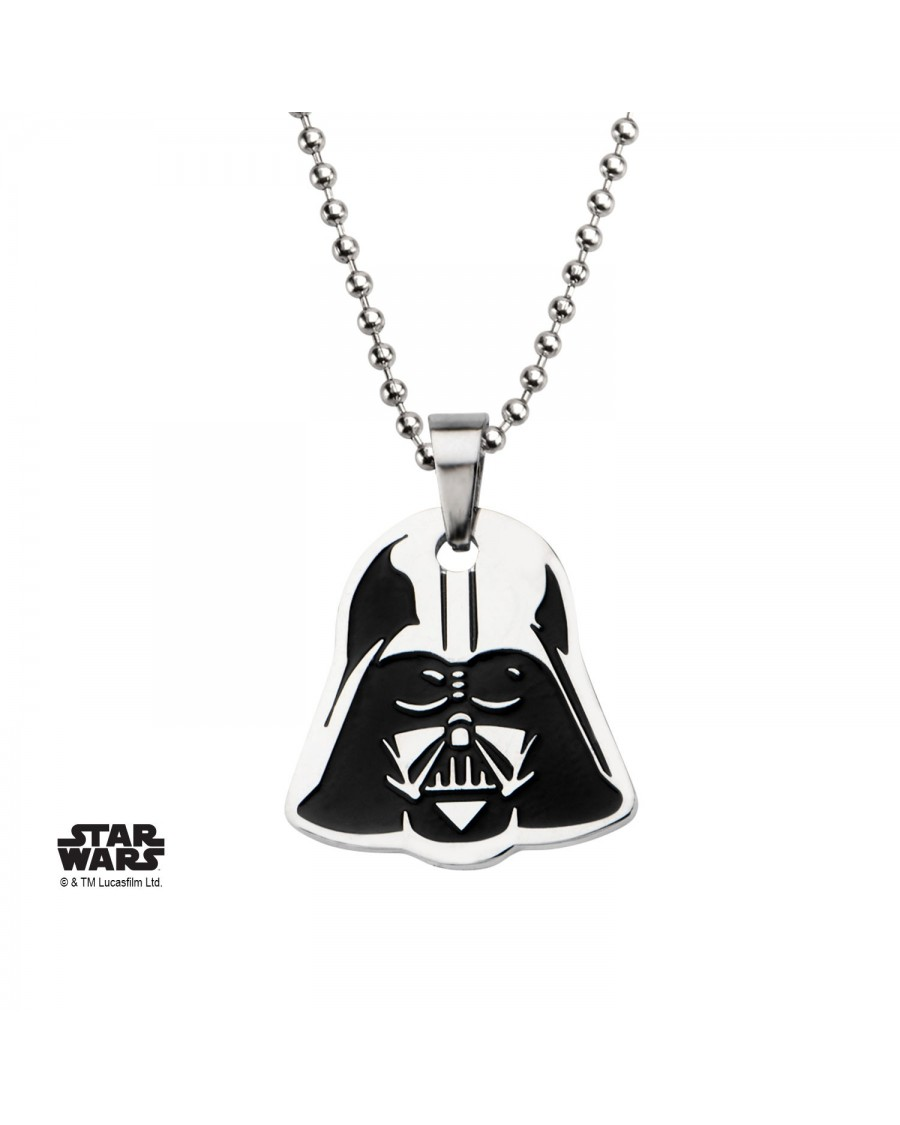 STAR WARS DARTH VADER MASK CUT OUT PENDANT ON CHAIN NECKLACE