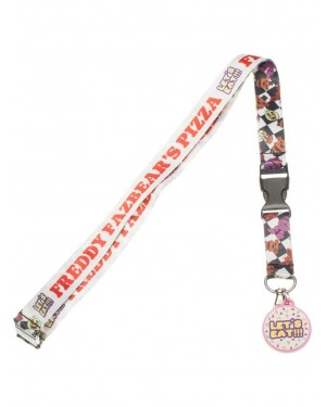 OFFICIAL FIVE NIGHTS AT FREDDY'S PIZZA PRINTED LANYARD