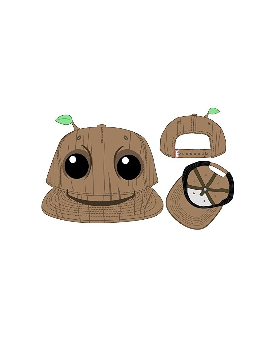 OFFICIAL MARVEL'S GUARDIANS OF THE GALAXY GROOT FACE SNAPBACK CAP
