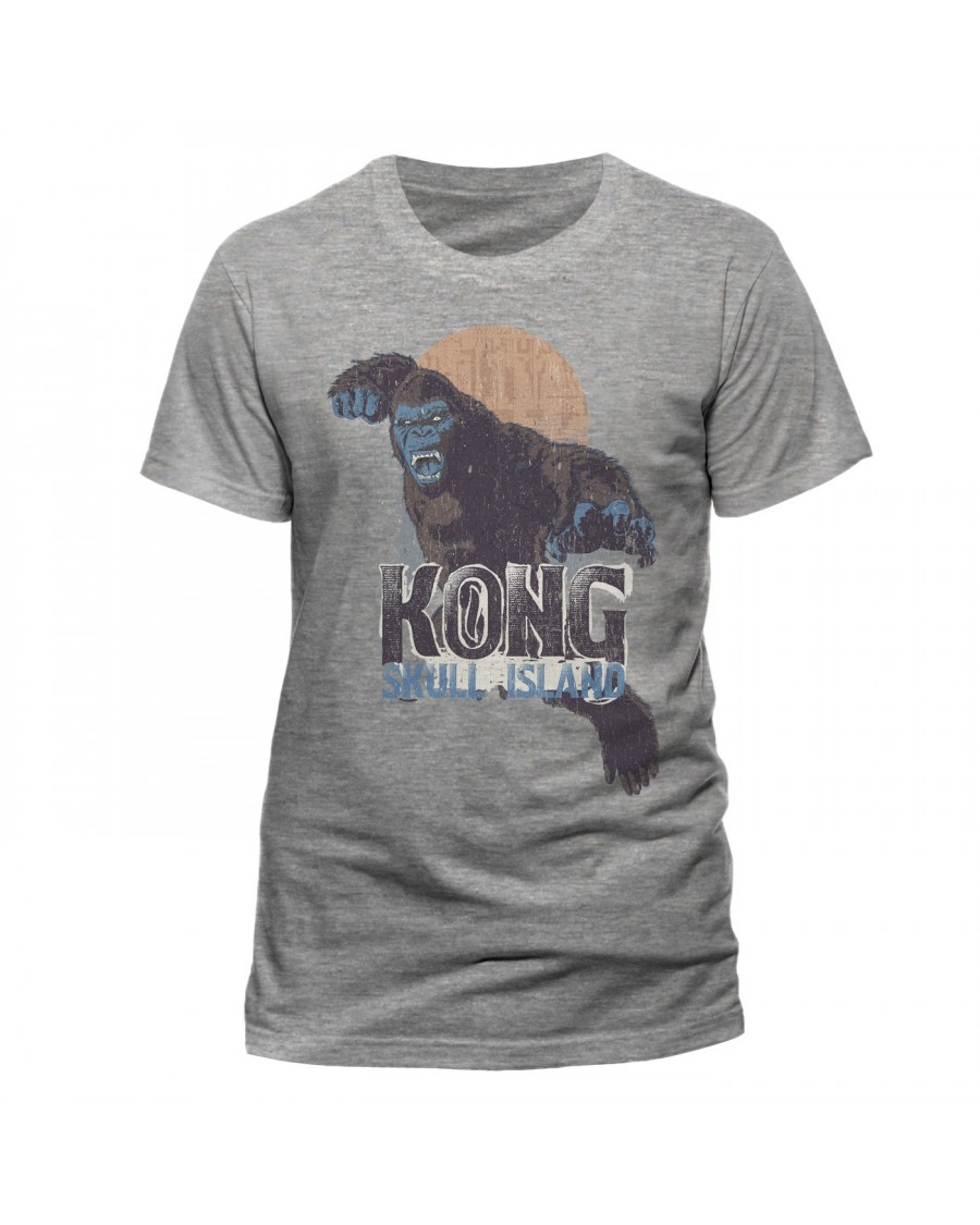 OFFICIAL KONG: SKULL ISLAND SUNSET ATTACK GREY T-SHIRT